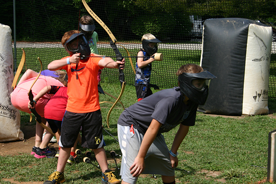 Treehouse World Archery Tag is Fun!
