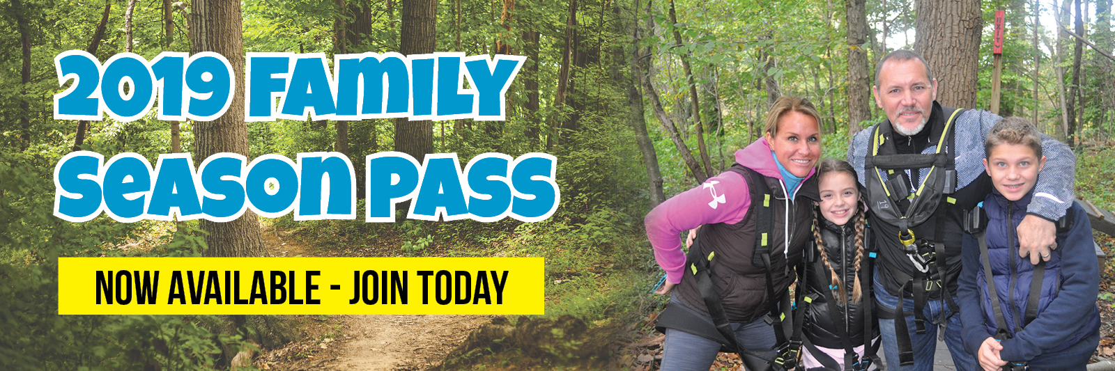 Buy a Season Pass for Your Family at Treehouse World Adventure Park