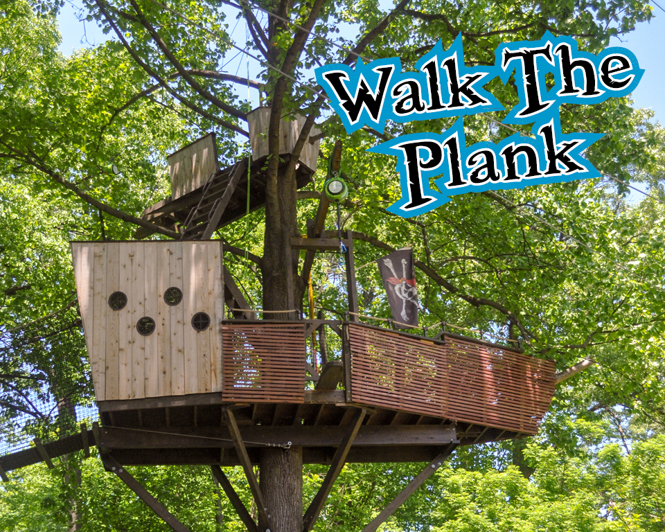 pirate ship treehouse construction